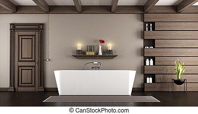 Modern, Badewanne, In, A, Klassisch, Badezimmer