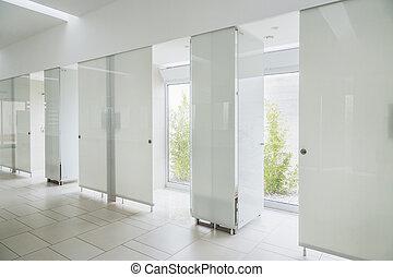 Badezimmer t r modern dusche glas inneneinrichtung trimmen badezimmer t r wand modern - Badezimmer fenster glas ...
