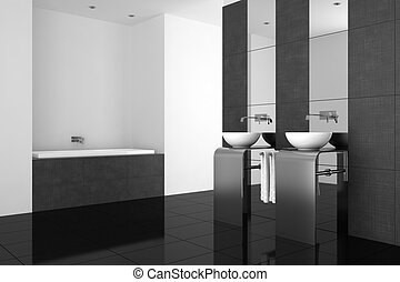 badezimmer modern schwarz boden badezimmerboden stock illustrationen suche eps clipart. Black Bedroom Furniture Sets. Home Design Ideas