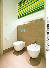 toilette fliesenmuster modern keramisch close up bathroom. Black Bedroom Furniture Sets. Home Design Ideas