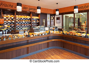Modern bakery interior