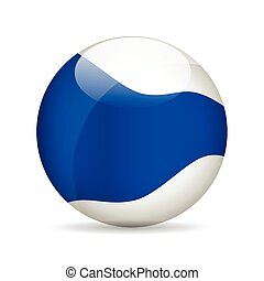 Modern ball. Vector illustration.