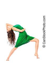 modern ballet - Modern ballet dancer dancing at studio. Art...
