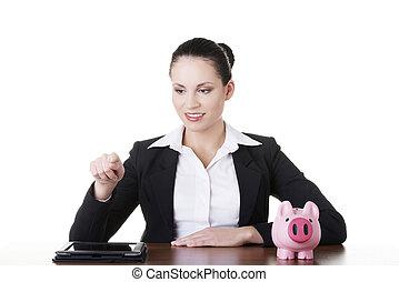 Modern banking concept.
