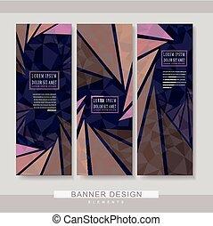 modern banner template set design
