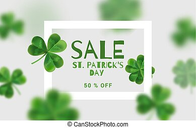 Modern banners for sales on St. Patrick's Day.