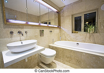 Modern Bathroom 2 - contemporary Luxury Bathroom with...