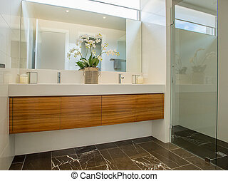 Modern Bathroom - A beautiful modern bathroom. This bathroom...