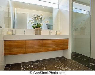 Modern Bathroom - A beautiful modern bathroom. This bathroom...