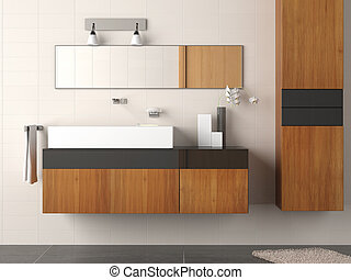 modern bathroom detail - Detail of a clean and modern...