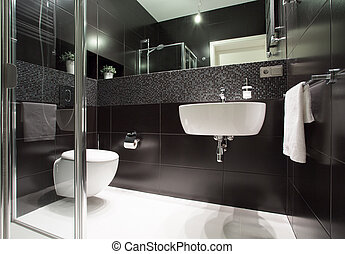Modern bathroom in apartment