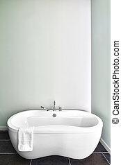 Modern Bathroom using soft Green Pastel Colors - Modern...