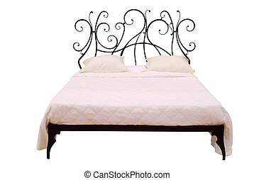 modern bed isolated