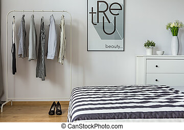 Modern bedroom of a woman