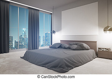 Modern bedroom side
