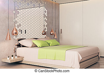 Modern bedroom side