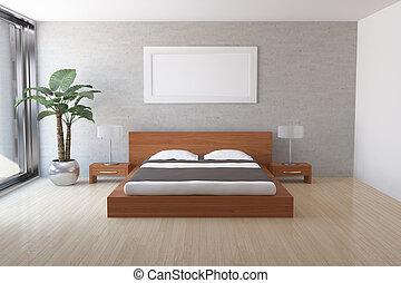 Modern bedroom - Interior of modern bedroom
