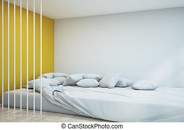 Modern bedroom with copyspace
