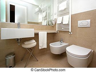 Modern, Beige, Badezimmer
