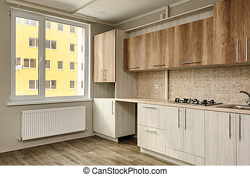 Modern beige kitchen