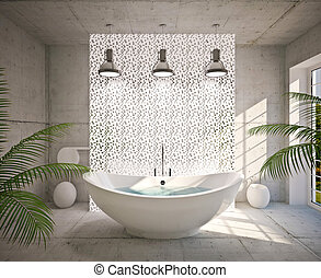 modern, belső, fürdőszoba