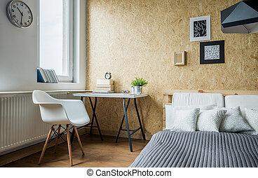 modern, bequem, schalfzimmer