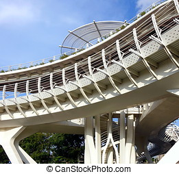 Modern Bicycle and Pedestrian Overpass