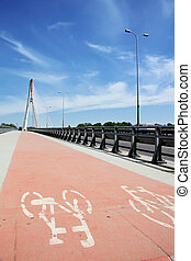 Modern bicycle lane