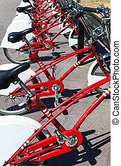 modern bicycle parking