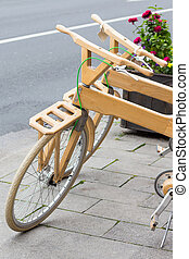 modern bicycle wooden