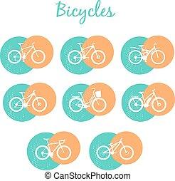 Modern Bicycles Set