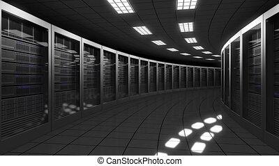 Modern big data center servers. Seamless loop, 4K clip