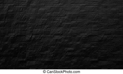 modern black brick wall background, 3d render
