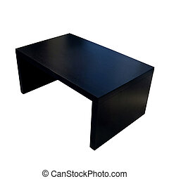 Modern black coffee table isolated