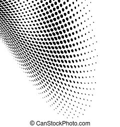 modern black dotted design - Vector abstract dynamic dots...