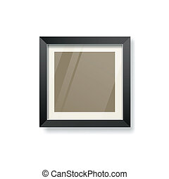 Modern black frame and glass empty