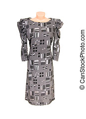 Modern black-gray dress on a white.