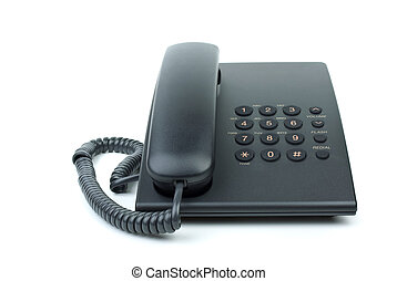 Modern black office phone