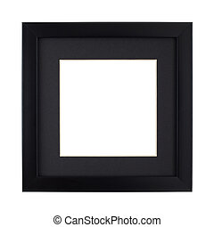 Modern Black picture frame with clipping path