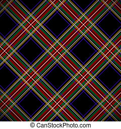 Modern black Stewart tartan, background.