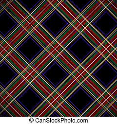 Modern black Stewart tartan, background.