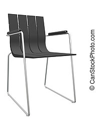 Modern black striped office chair