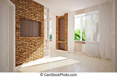 modern blank interior
