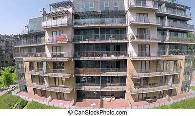 Modern block of apartments