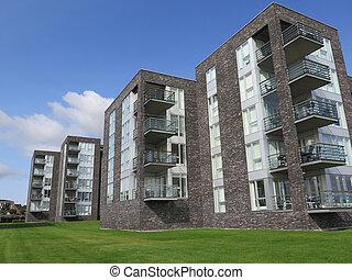 Modern blocks of flats