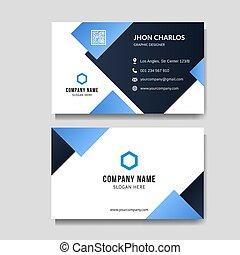 Modern blue business card background