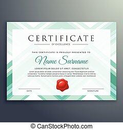 modern blue certificate design template