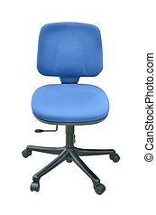 modern blue chair isolated
