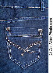 Modern Blue Jeans - Photo of a Modern Blue Jeans, close up