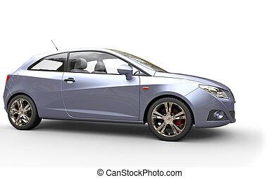 Modern Blue Metallic Car
